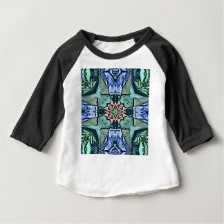 Camiseta Para Bebê Teste padrão artístico do pêssego moderno do Lilac