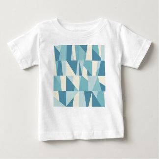 Camiseta Para Bebê Teste padrão azul geométrico