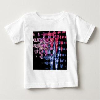 Camiseta Para Bebê Teste padrão bonito bonito das cores de água