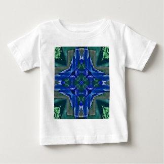 Camiseta Para Bebê Teste padrão bonito da forma da cruz dos azuis