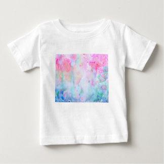 Camiseta Para Bebê Teste padrão cor-de-rosa abstrato da aguarela,