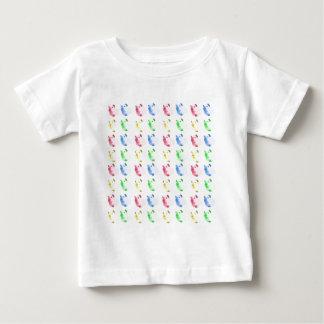 Camiseta Para Bebê Teste padrão cortado pop art da cobaia