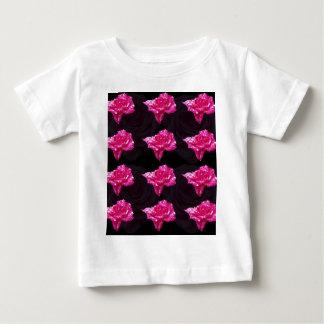 Camiseta Para Bebê Teste padrão da camada do rosa do rosa quente e do