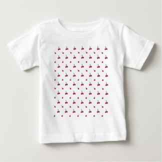 Camiseta Para Bebê Teste padrão da cereja