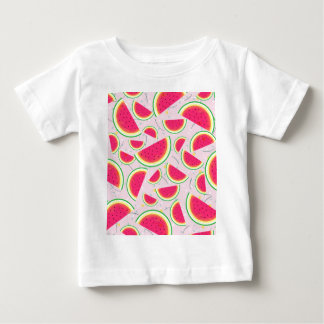 Camiseta Para Bebê Teste padrão da festa do melão