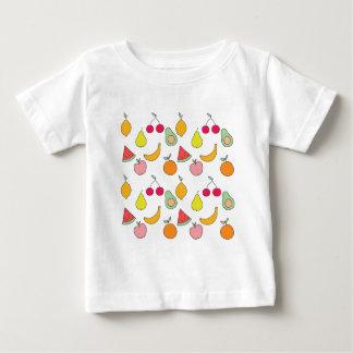 Camiseta Para Bebê teste padrão da fruta