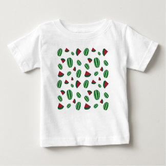 Camiseta Para Bebê Teste padrão da melancia