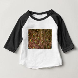 Camiseta Para Bebê Teste padrão da pena do pavão