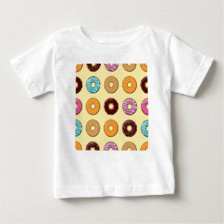 Camiseta Para Bebê Teste padrão da rosquinha no amarelo