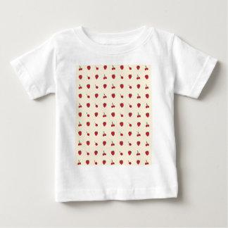 Camiseta Para Bebê Teste padrão das cerejas & das morangos