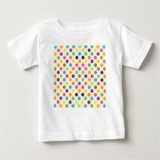 Camiseta Para Bebê Teste padrão de pontos bonito VII