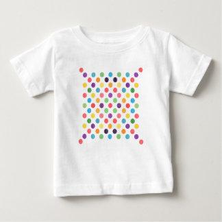 Camiseta Para Bebê Teste padrão de pontos bonito VIII
