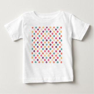 Camiseta Para Bebê Teste padrão de pontos bonito XI