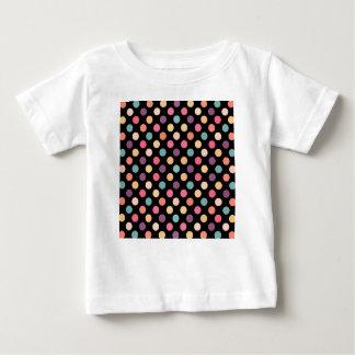Camiseta Para Bebê Teste padrão de pontos bonito XII