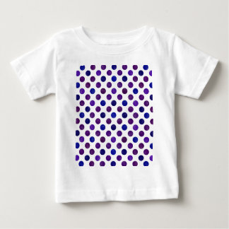 Camiseta Para Bebê Teste padrão de pontos bonito XV