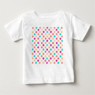 Camiseta Para Bebê Teste padrão de pontos bonito XVI