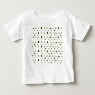 Camiseta Para Bebê Teste padrão do abacate