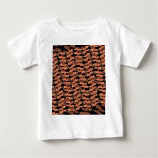 Camiseta Para Bebê Teste padrão do bacon