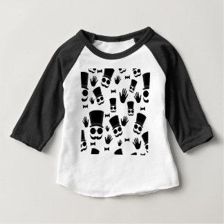 Camiseta Para Bebê Teste padrão do cavalheiro