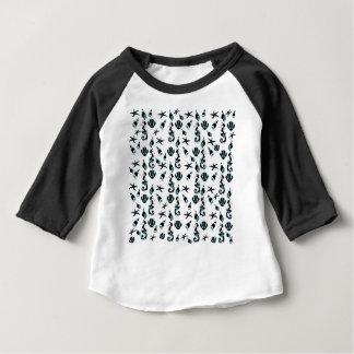 Camiseta Para Bebê Teste padrão do cavalo marinho