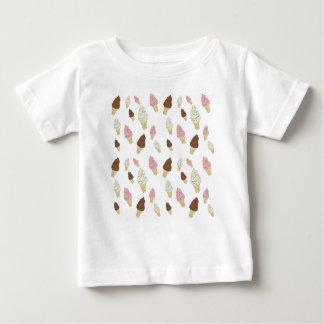 Camiseta Para Bebê Teste padrão do cone do sorvete