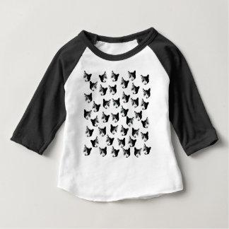 Camiseta Para Bebê Teste padrão do gato