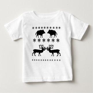 Camiseta Para Bebê Teste padrão do inverno