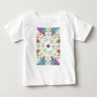 Camiseta Para Bebê teste padrão do lenço do primavera do vintage