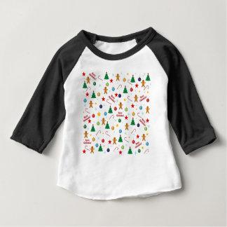 Camiseta Para Bebê Teste padrão do Natal