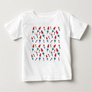 Camiseta Para Bebê Teste padrão do pop da bomba