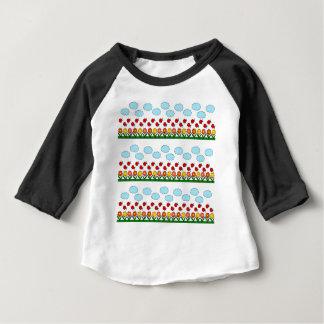 Camiseta Para Bebê Teste padrão dos joaninhas e de flores