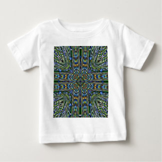 Camiseta Para Bebê Teste padrão Feathery artístico moderno anca