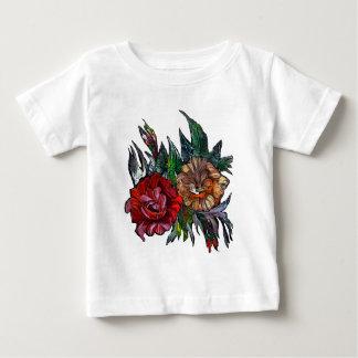 Camiseta Para Bebê Teste padrão floral vibrante de Matryoshka