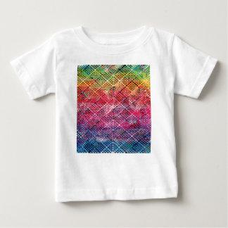 Camiseta Para Bebê Teste padrão geométrico abstrato