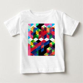 Camiseta Para Bebê Teste padrão geométrico brilhante do diamante
