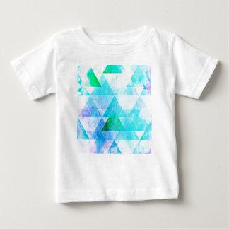Camiseta Para Bebê Teste padrão geométrico da aguarela azul