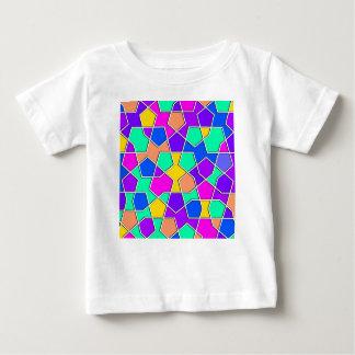 Camiseta Para Bebê teste padrão geométrico islâmico