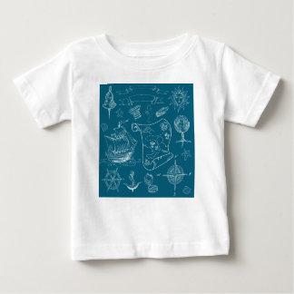 Camiseta Para Bebê Teste padrão gráfico náutico do modelo
