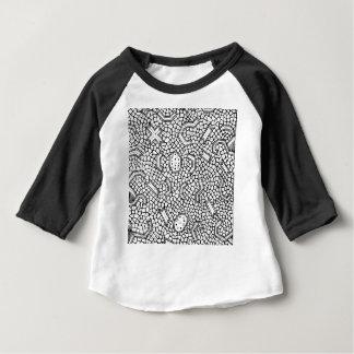 Camiseta Para Bebê Teste padrão indonésio celular de matéria têxtil