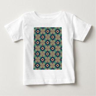 Camiseta Para Bebê Teste padrão mural geométrico do design