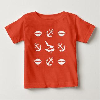 Camiseta Para Bebê Teste padrão náutico engraçado feminino