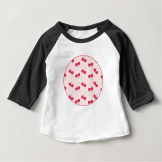Camiseta Para Bebê Teste padrão original das cerejas doces