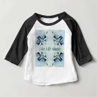 Camiseta Para Bebê Teste padrão pairoso claro artístico do positivo