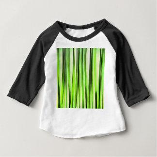 Camiseta Para Bebê Teste padrão Stripy verde eterno