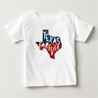 Camiseta Para Bebê Texas para sempre