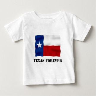 Camiseta Para Bebê TEXAS PARA SEMPRE - texto da bandeira -