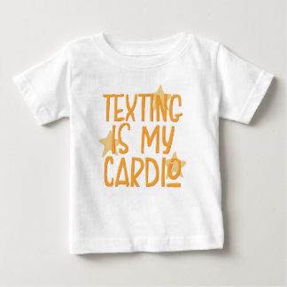 Camiseta Para Bebê Texting é meu cardio-