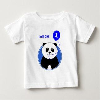 Camiseta Para Bebê Texto bonito do costume da panda do primeiro