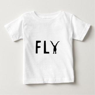 Camiseta Para Bebê Texto engraçado da mosca e design humano