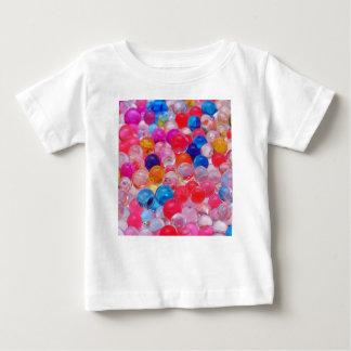 Camiseta Para Bebê textura colorida das bolas da geléia